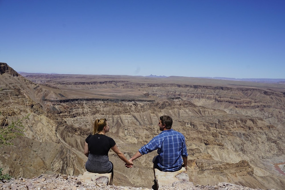 Missy and Lucas at Fish River Canyon