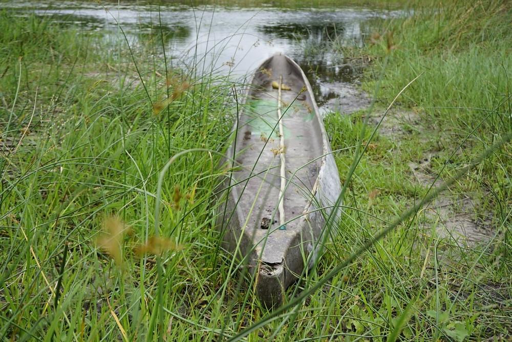 Mokoro on Okavango Delta