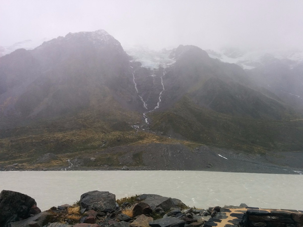Gusting winds of the Hooker Valley Track