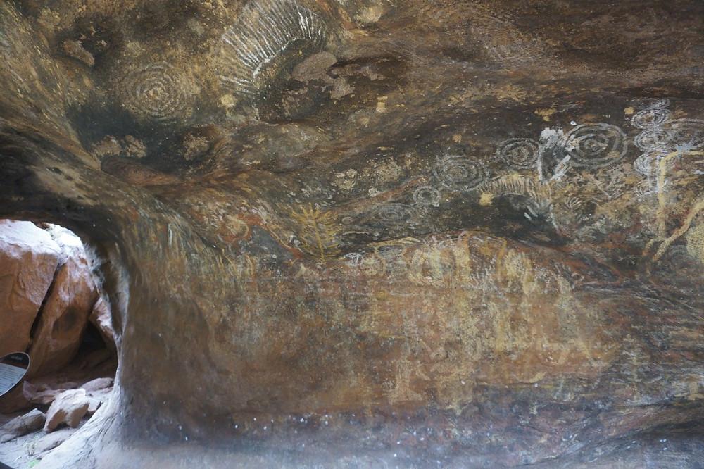 Cave paintings at Uluru, Australia
