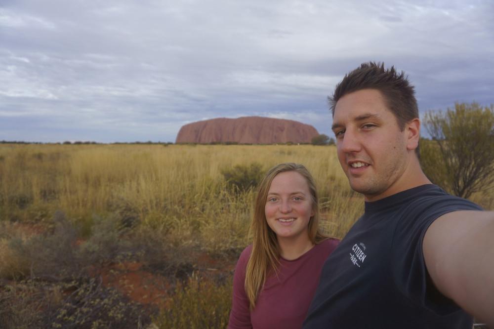 Missy and Lucas at Uluru, Australia