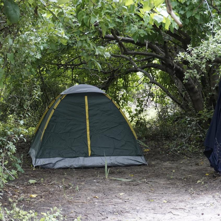 Campsite in the Okavango Delta