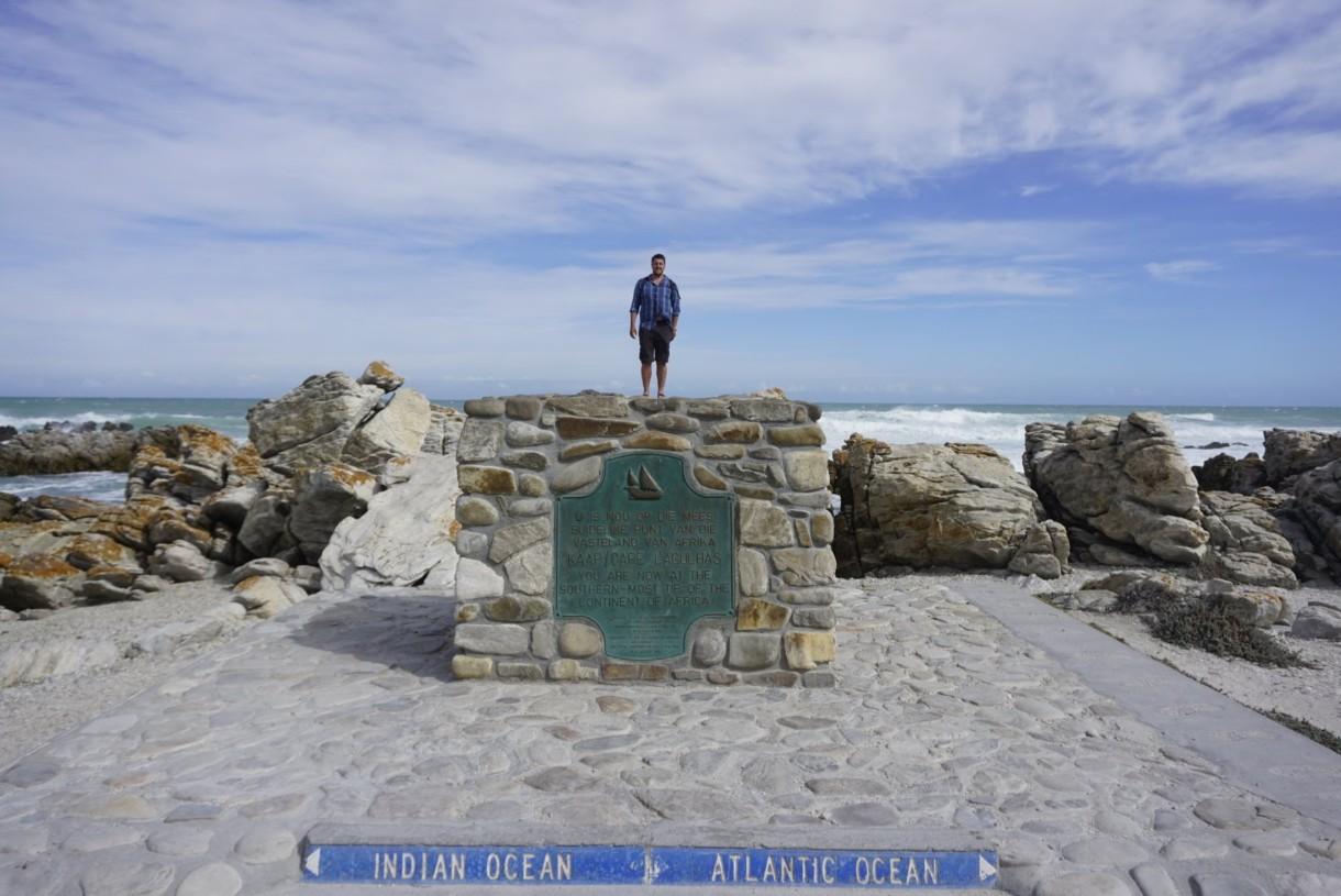 Lucas at Cape Agulhas