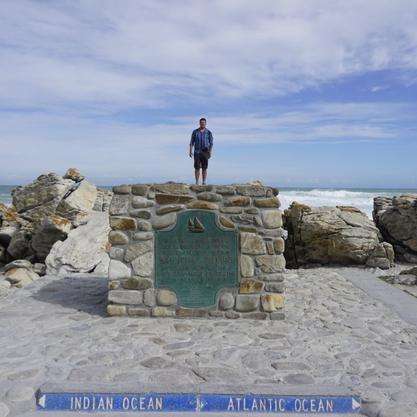 Cape Agulhas where the Indian and Atlantic oceans meet