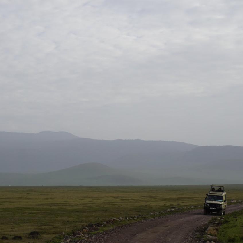 Safari Van in the Serengeti National Park