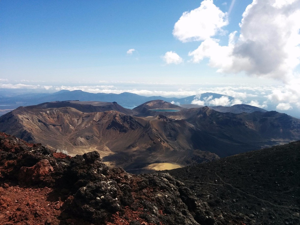 View from the top of Mt. Nguauhoe (Mt. Doom) on the Tongariro Alpine Crossing