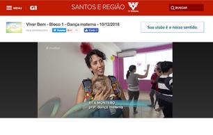 Dança Materna Santos na TV Tribuna com Rita Monteiro
