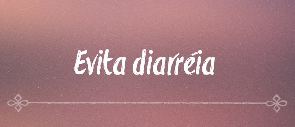 Amamentar evita diarréia