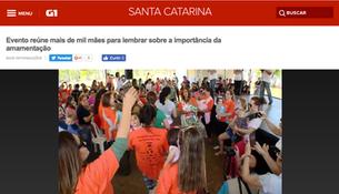 Dança Materna na abertura do Encontro Nacional de Aleitamento Materno em Florianópolis