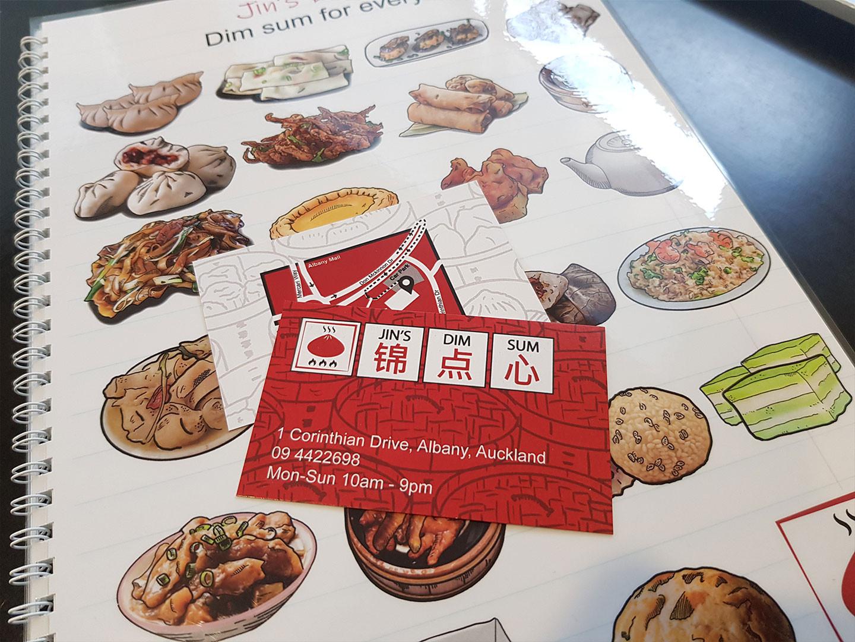 Jin's Dim Sum Business cards design