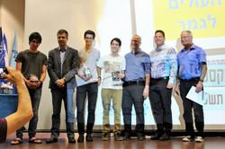 Code Guru Extreme Winners @ TAU with Organizers and Minister of Economic Affairs