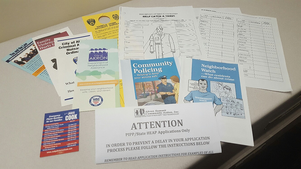 Handouts from Tuesday nights meeting with the South St. Block Watch.