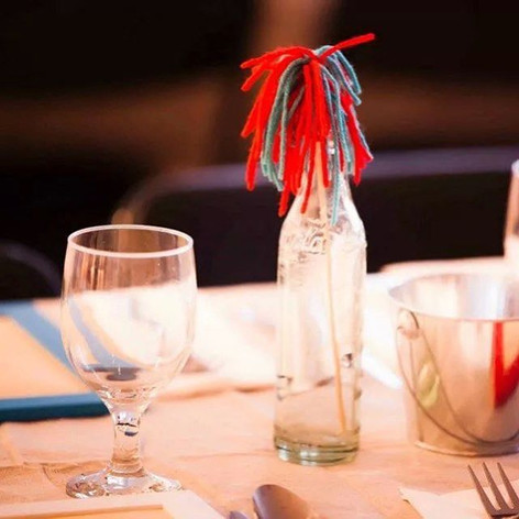 Pom-pom centerpiece + Color-your-own placemat | Philadelphia, PA
