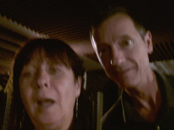 Dawn and John trying to do a selfie!