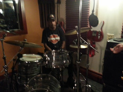 """Willie """"The Touch"""" Hayes on drums"""