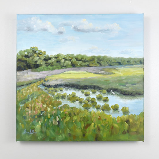 Coastal Color 16 x 16 Oil on canvas