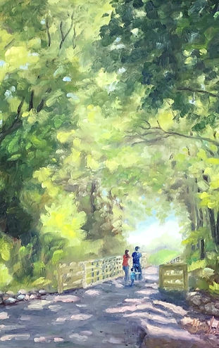 Swamp Rabbit Trail painting