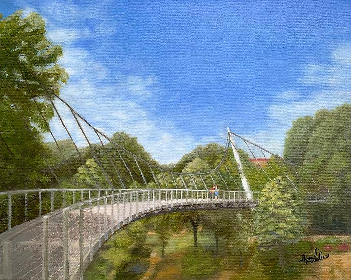Liberty Bridge   20 x 16  Oil On Canvas