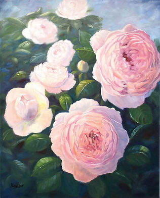 Peonies , oil painting