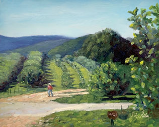 art, apple orchard