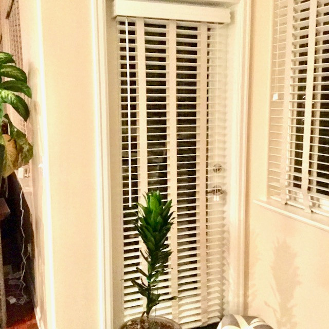 French Door Wood Blinds