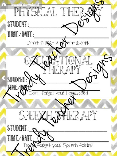 Therapy Reminder Cards
