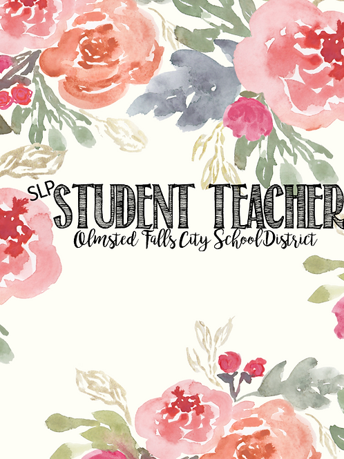 DIGITAL DOWNLOAD VERSION Student Teacher Welcome Planner