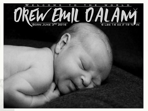 Custom Birth Announcements (DIGITAL)