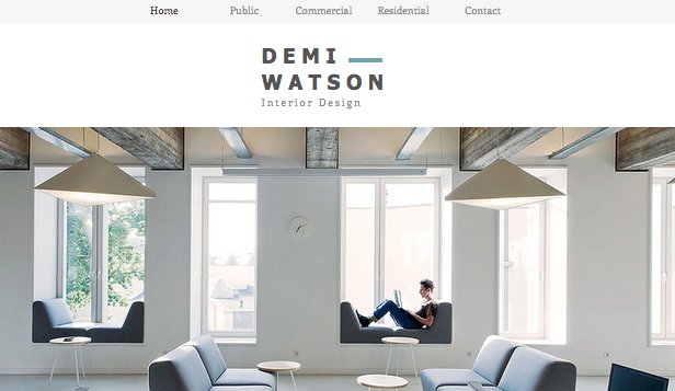 Portfolio website templates design wix for Best interior design sites