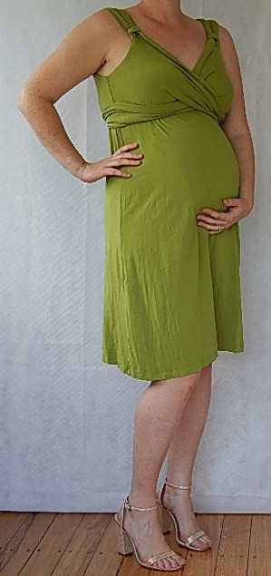 6b4b9d64cc06 Isabella Oliver's iconic wrap style maternity wear is available for hire in  a vibrant chartreuse green empire wrap dress! With cute cap sleeves, ...