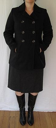 Sz S: Motherhood Maternity Black Pea Coat