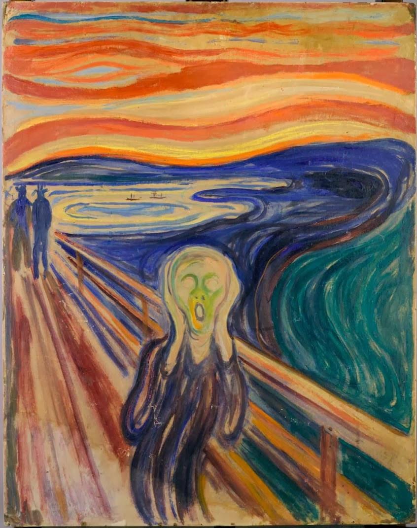 Scream, Munch, Learning German, Frustration of language learning, German language, fluency in German