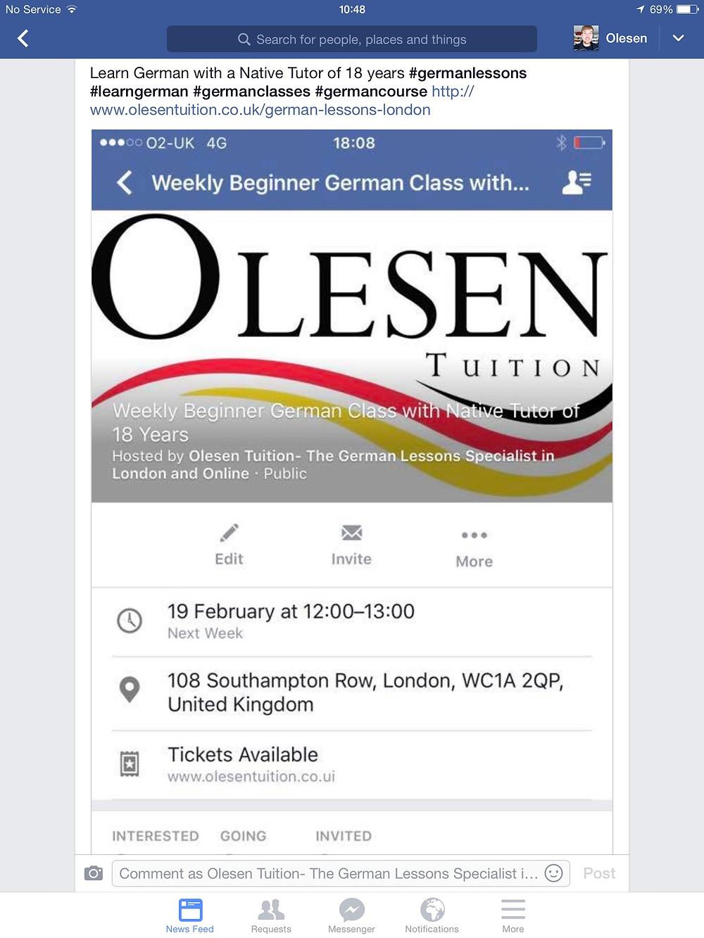 Beginner German lessons London