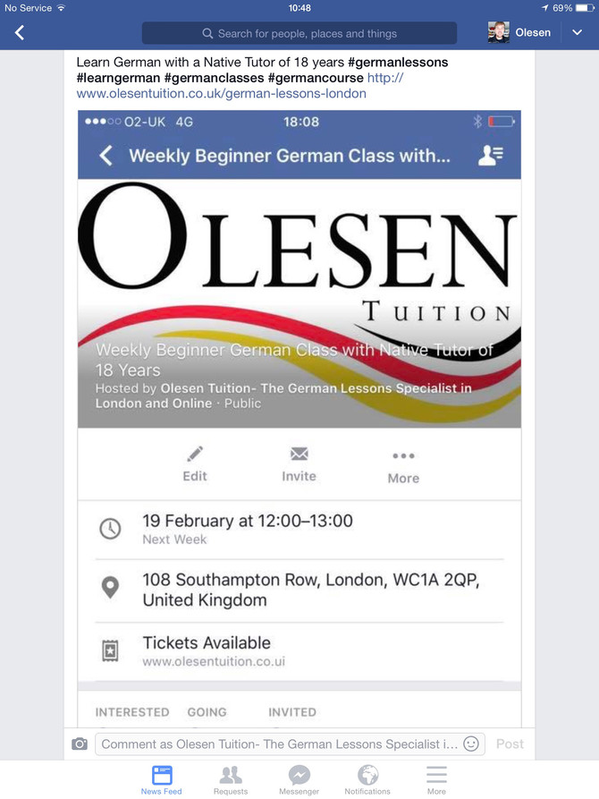 Beginner German lessons with an Oxford-educated native German tutor of 18 years