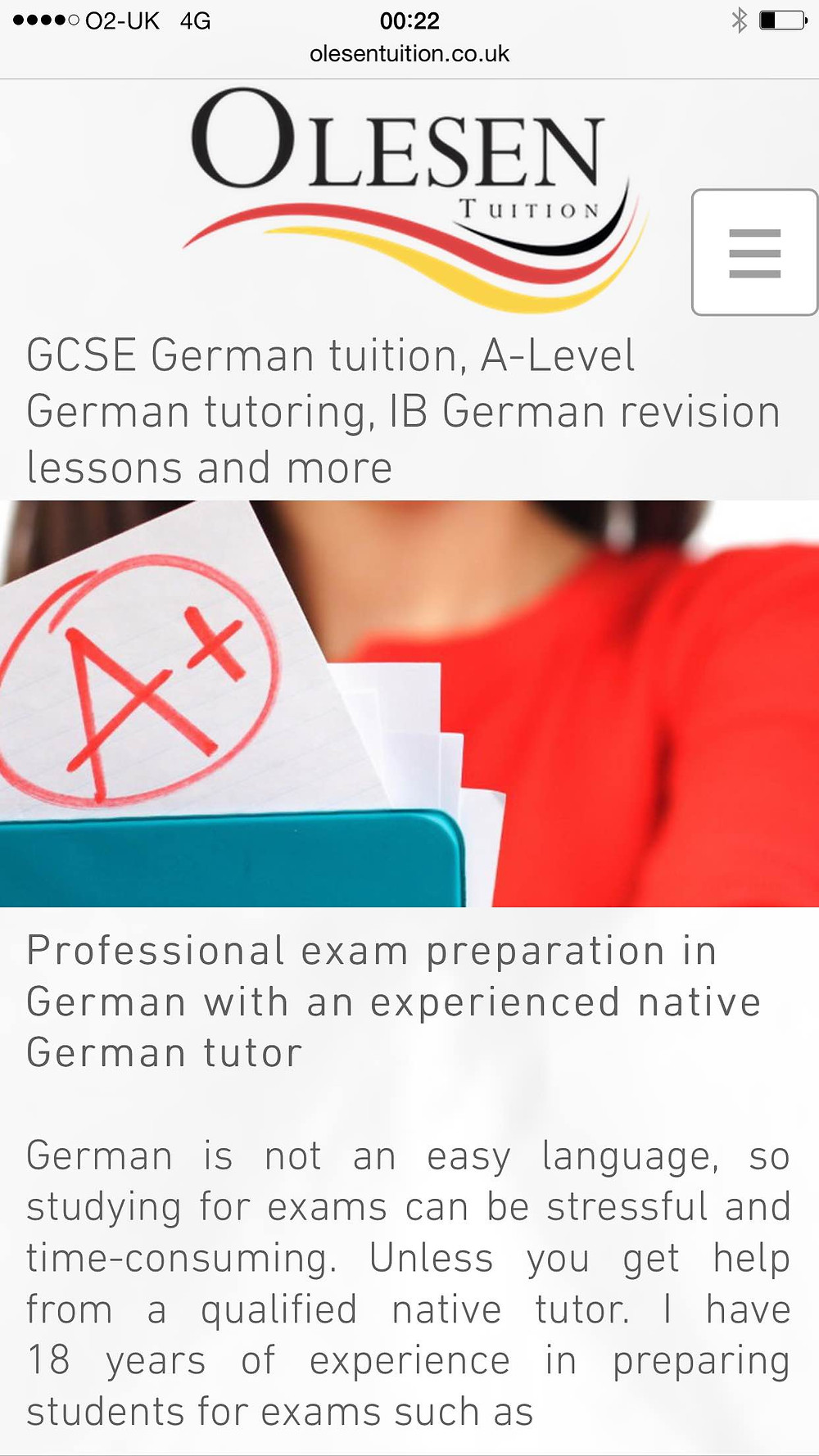 GCSE German Tutor, A-Level German tutor, A star GCSE German, GCSE German tuition, GCSE German lessons, IB German,