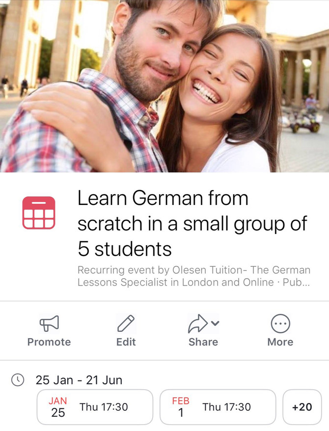Learn German after work