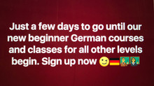Sign up for our new German courses now