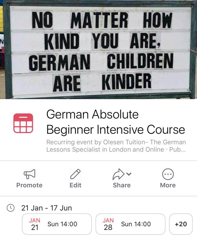 German Absolute Beginner Course