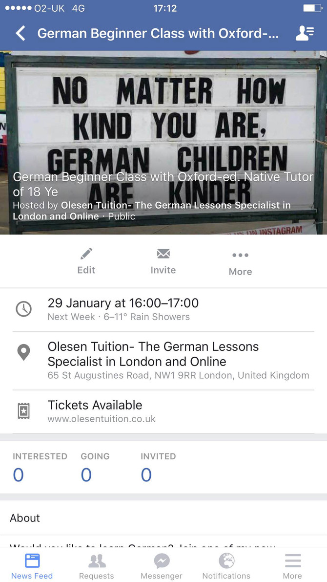 Want to learn German? Join my new small group class of only 2-5 students