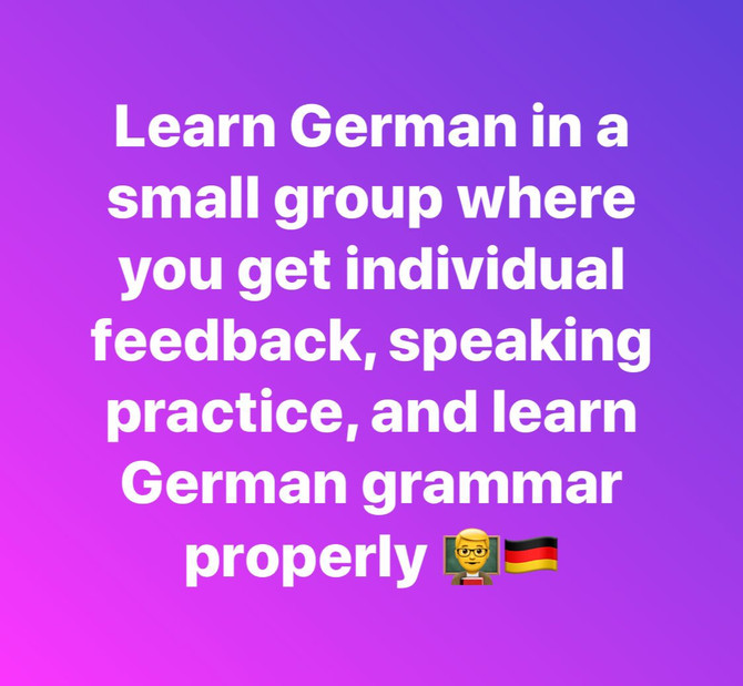 Learn German in a Small Group with Olesen Tuition!
