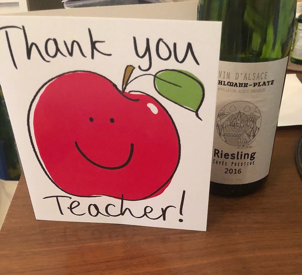 Thank you card by student for Intensive German course