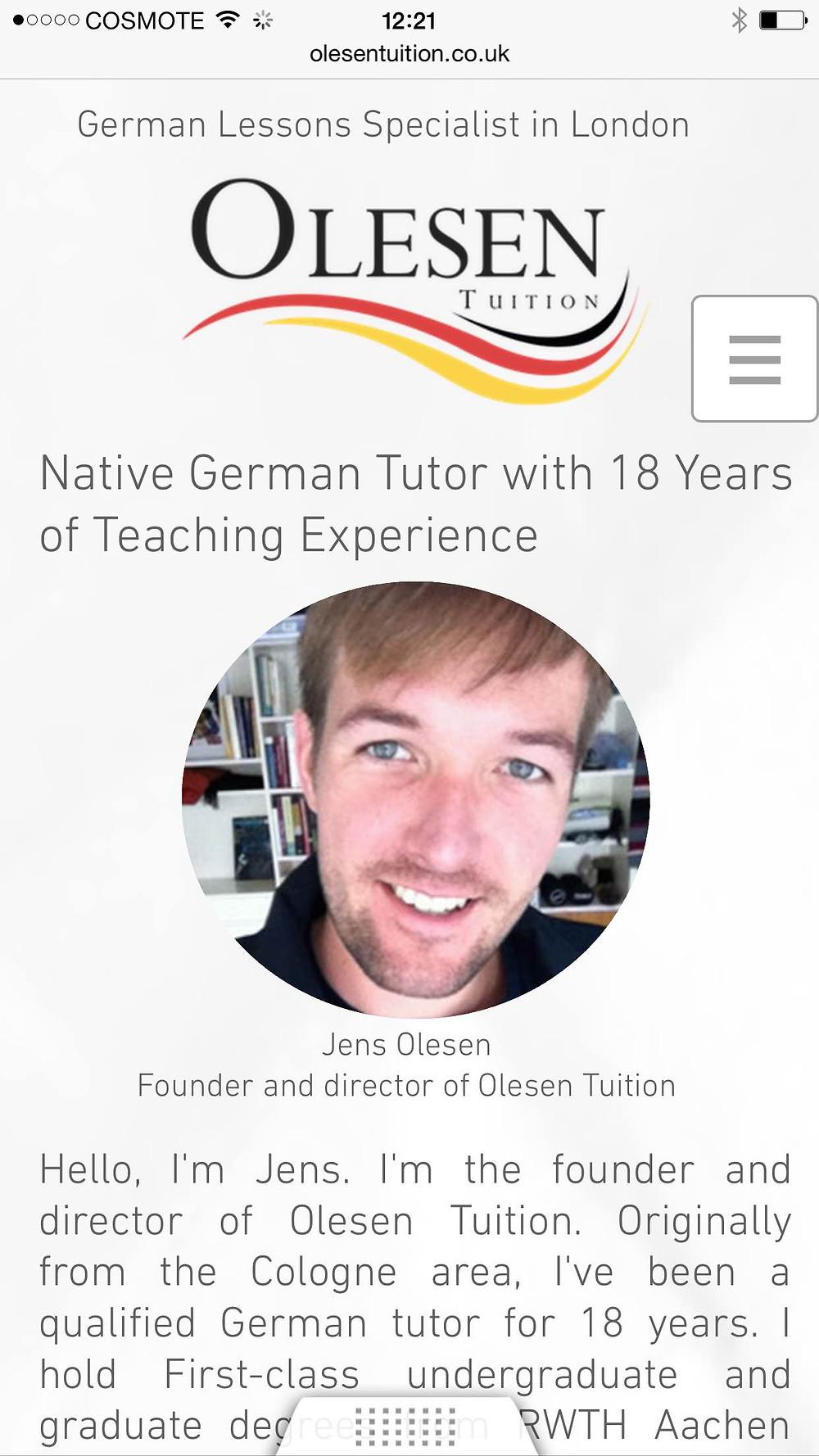 German tutors London, German tutoring London