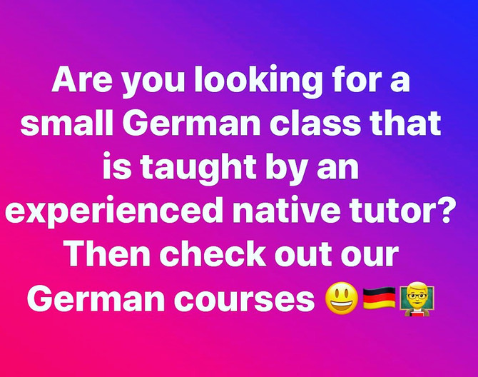 Make rapid progress in learning German