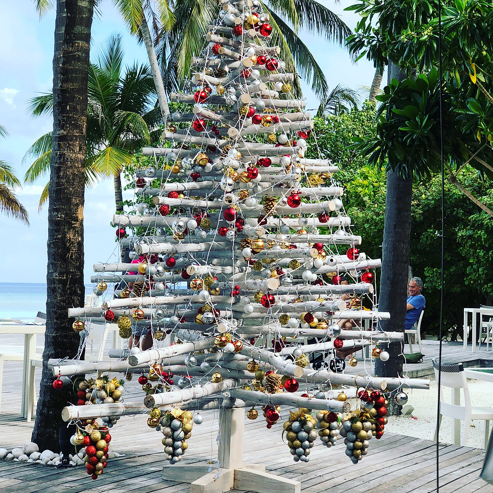 Christmas tree in the Maldives