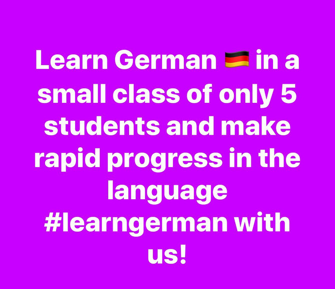 Learn German with us!