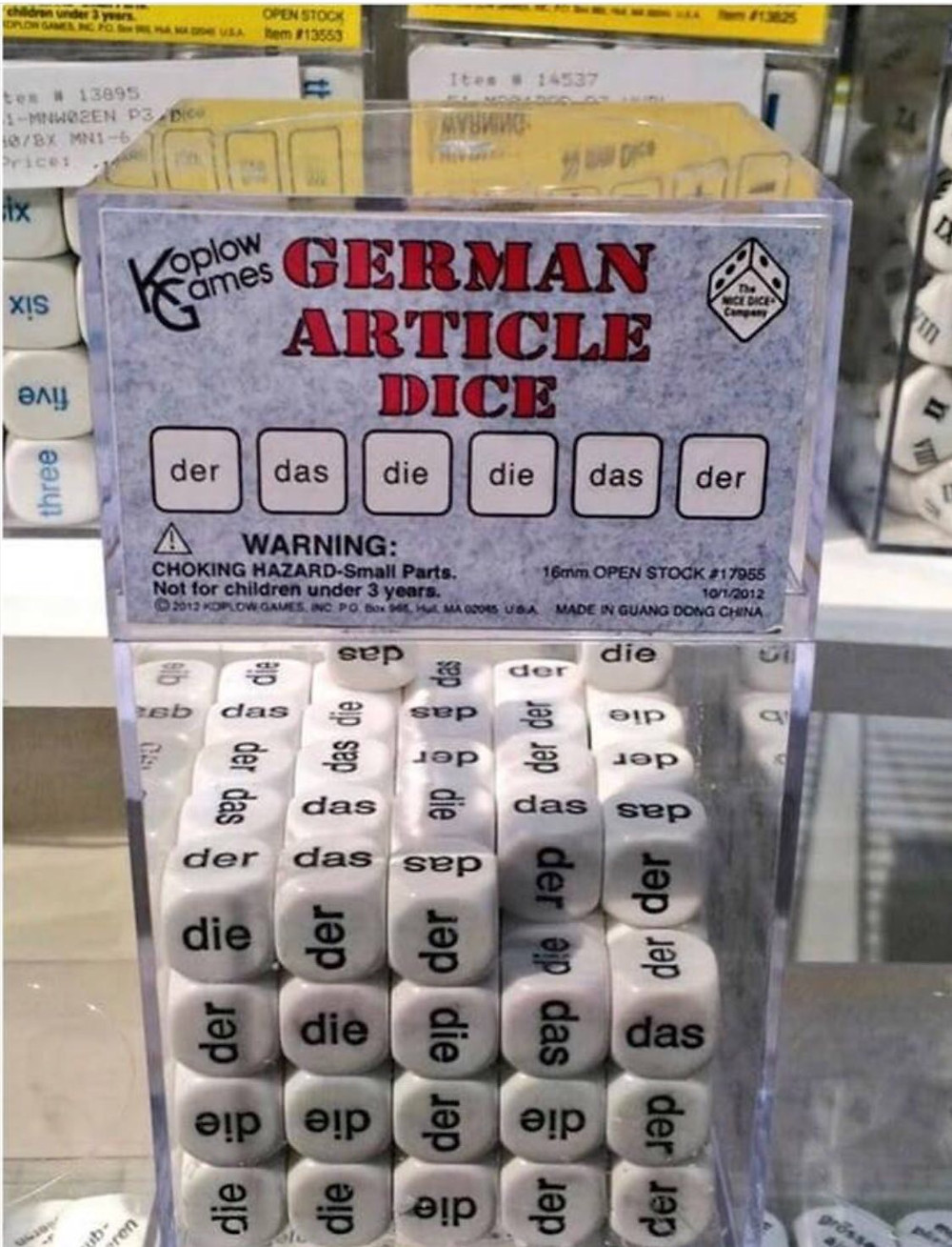 Learn about the German cases and der, die, das here