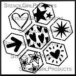 Stencil-S715-Geo-Hex-Hearts-&-Stars-S715