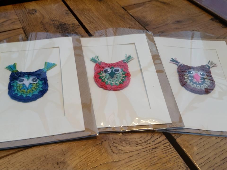 hand made owl cards