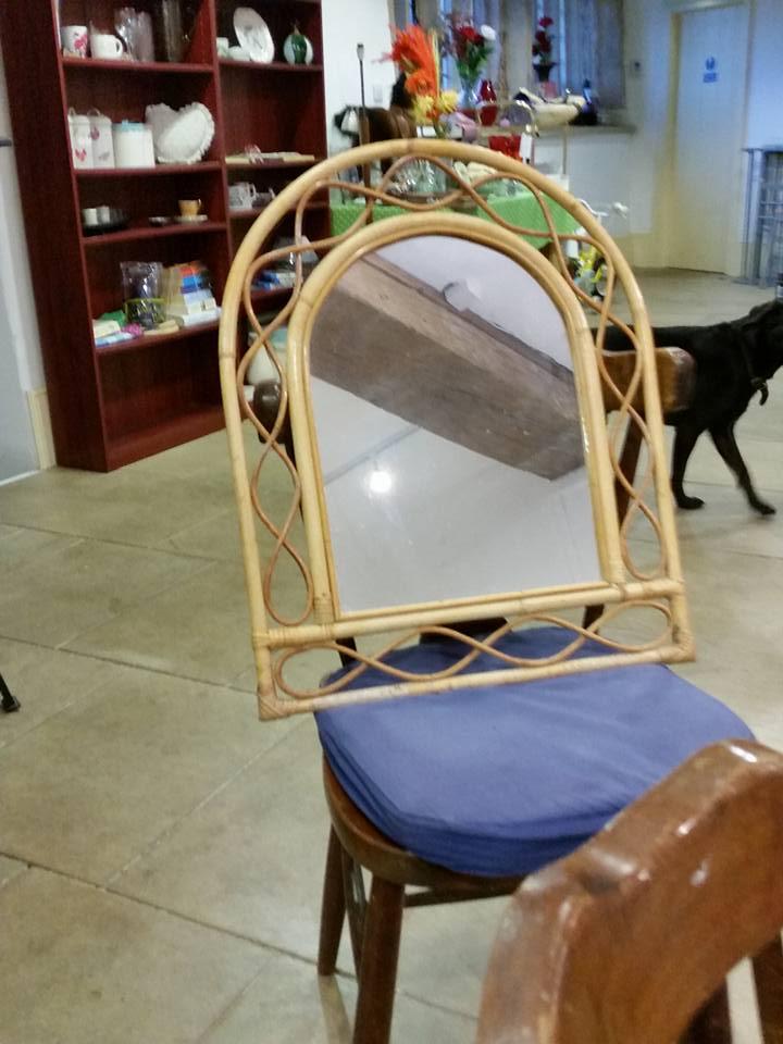 cane mirror 59cms high 48cms wide