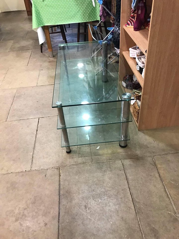 Large TV unit glass
